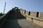 万里の長城の急階段の壁紙