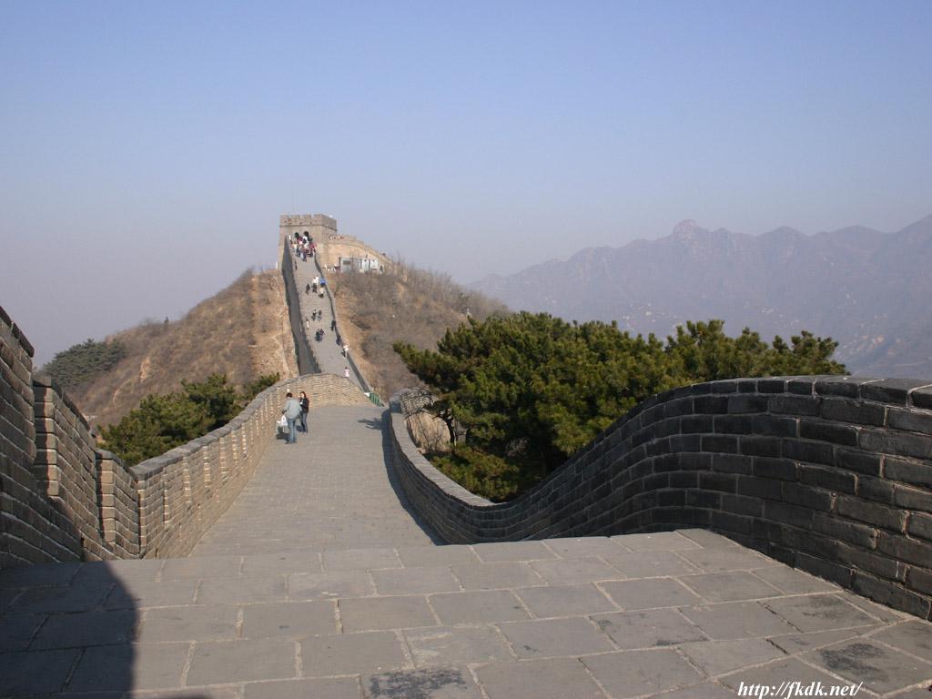 男坂の頂上付近