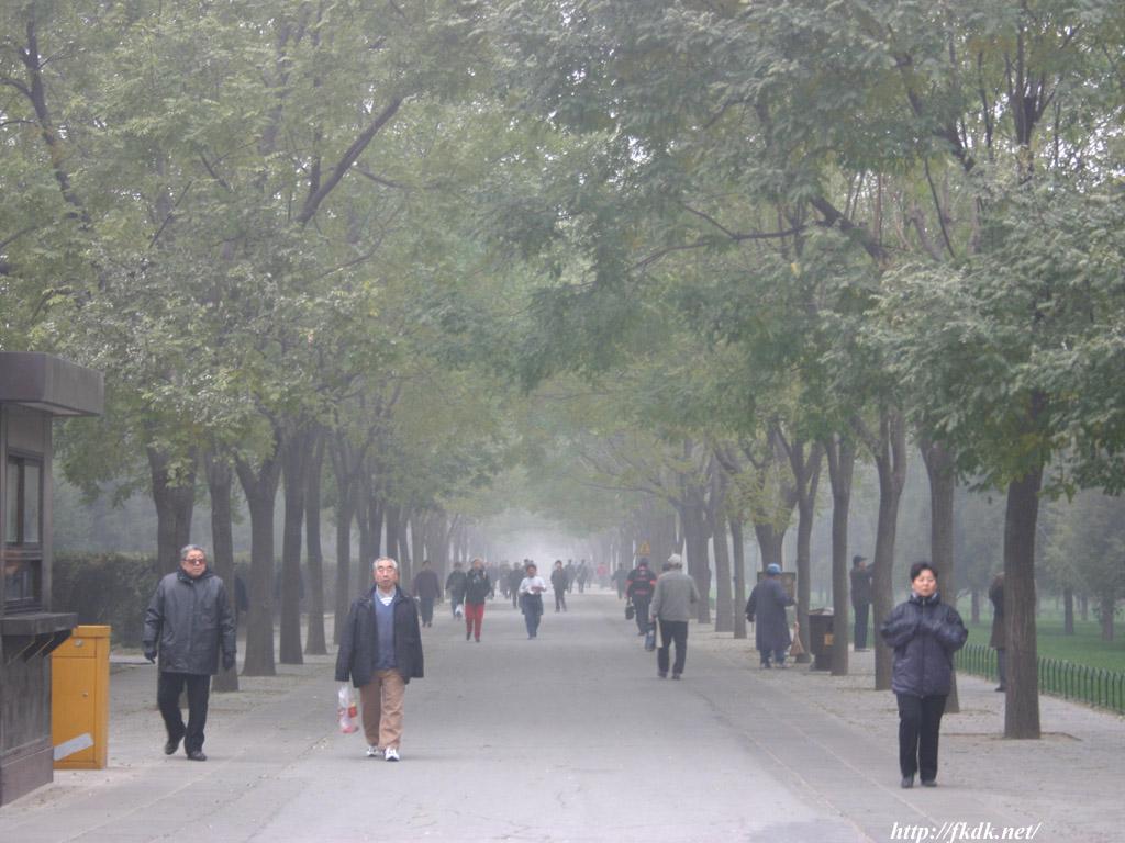 北京の早朝