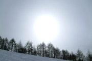 太陽と雪景色