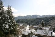 雪の農村風景