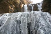 凍結した袋田の滝