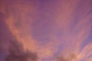 紅く染まる空