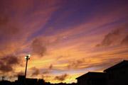 夕焼けの空