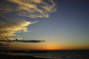 夕焼けの海岸