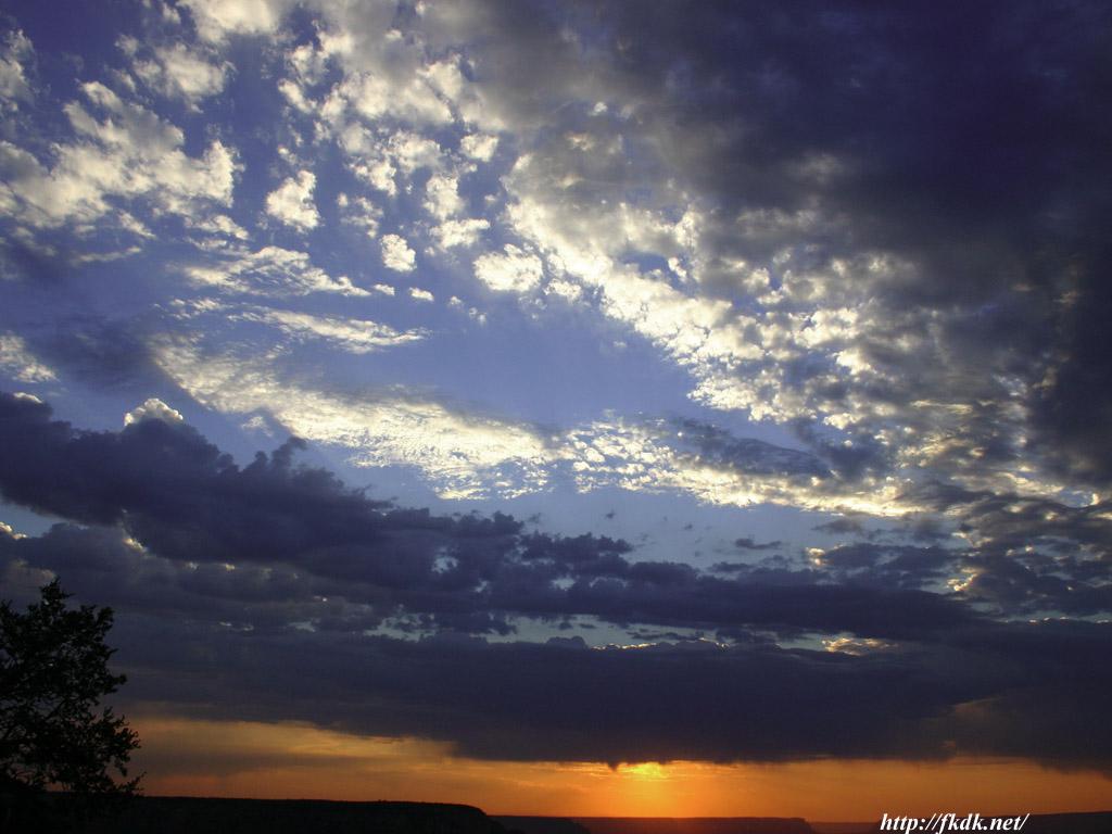 グランドキャニオンの夕焼け1