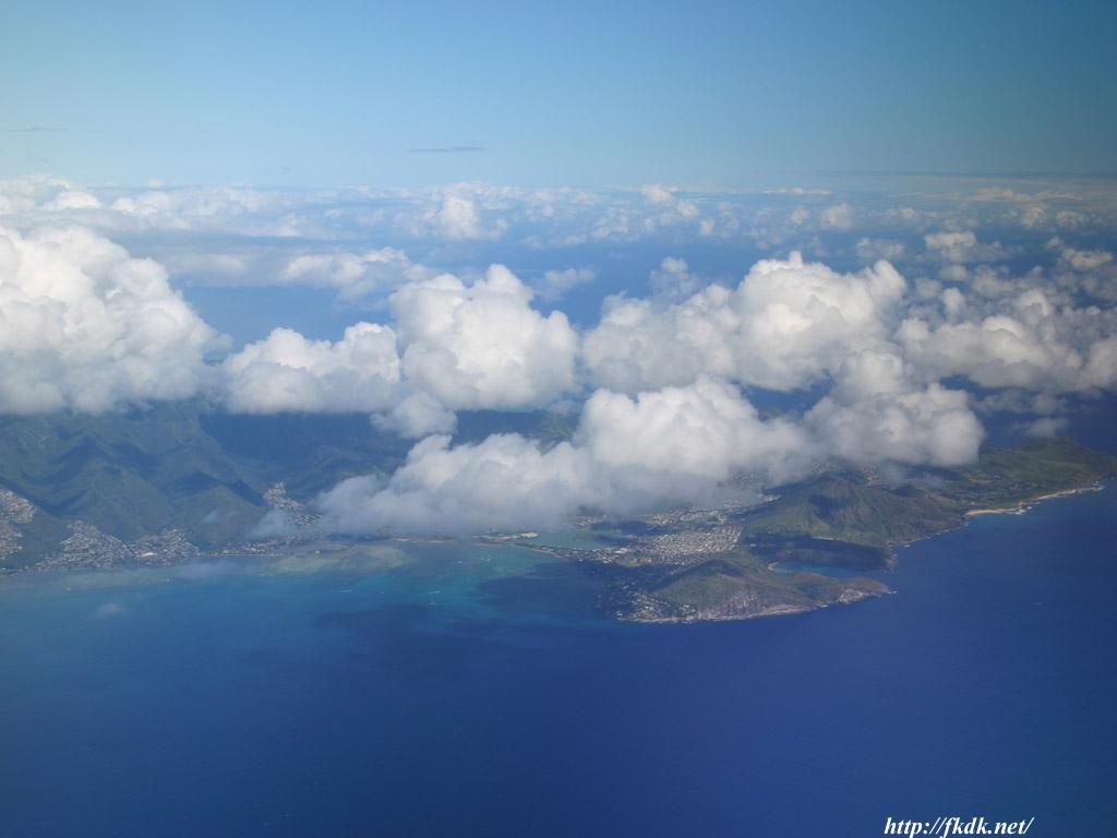 ハナウマ湾付近空撮