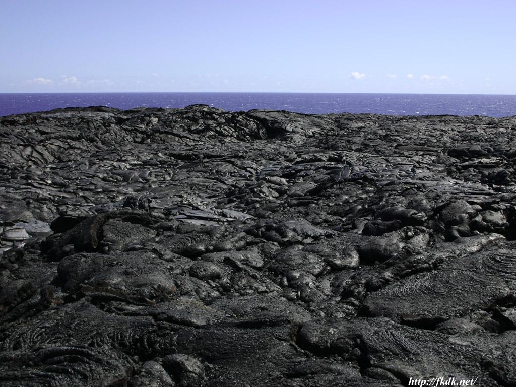 溶岩と海1