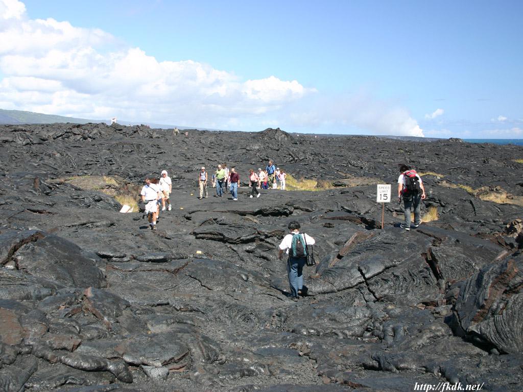 溶岩台地の上