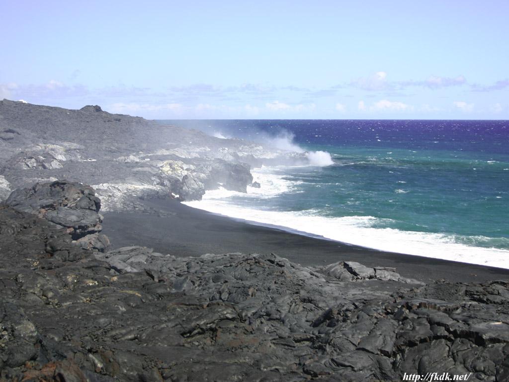 海に落ちる溶岩1