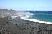 海に落ちる溶岩1の壁紙