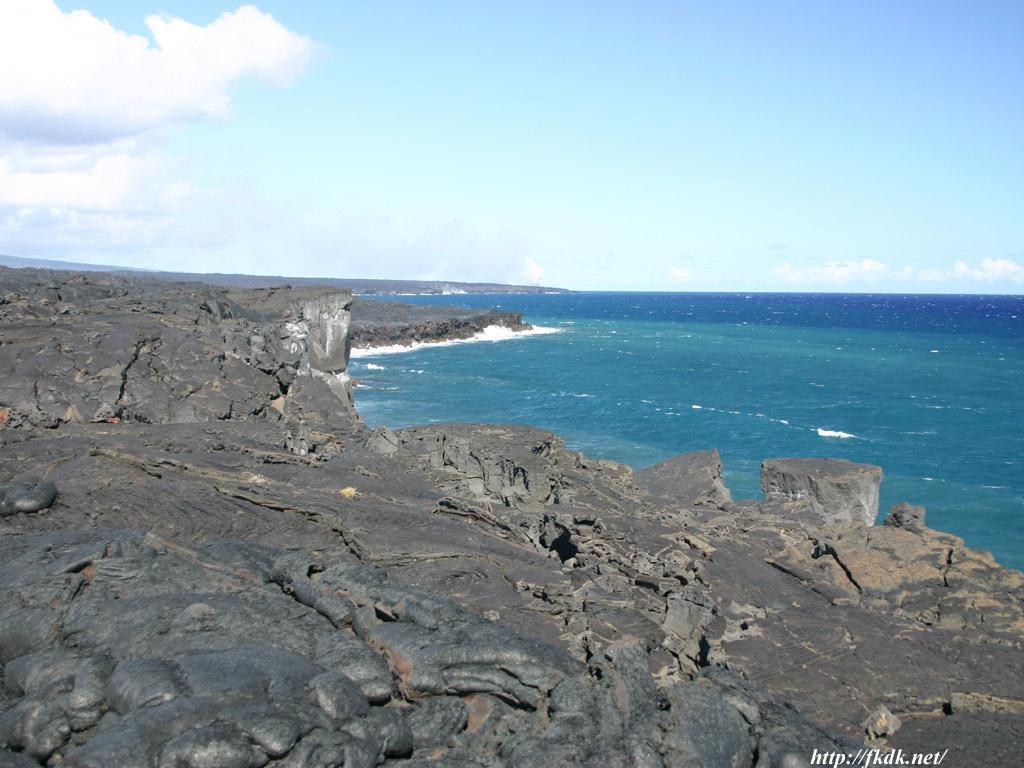 溶岩と海2
