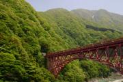 黒部渓谷鉄道と新山彦橋の壁紙