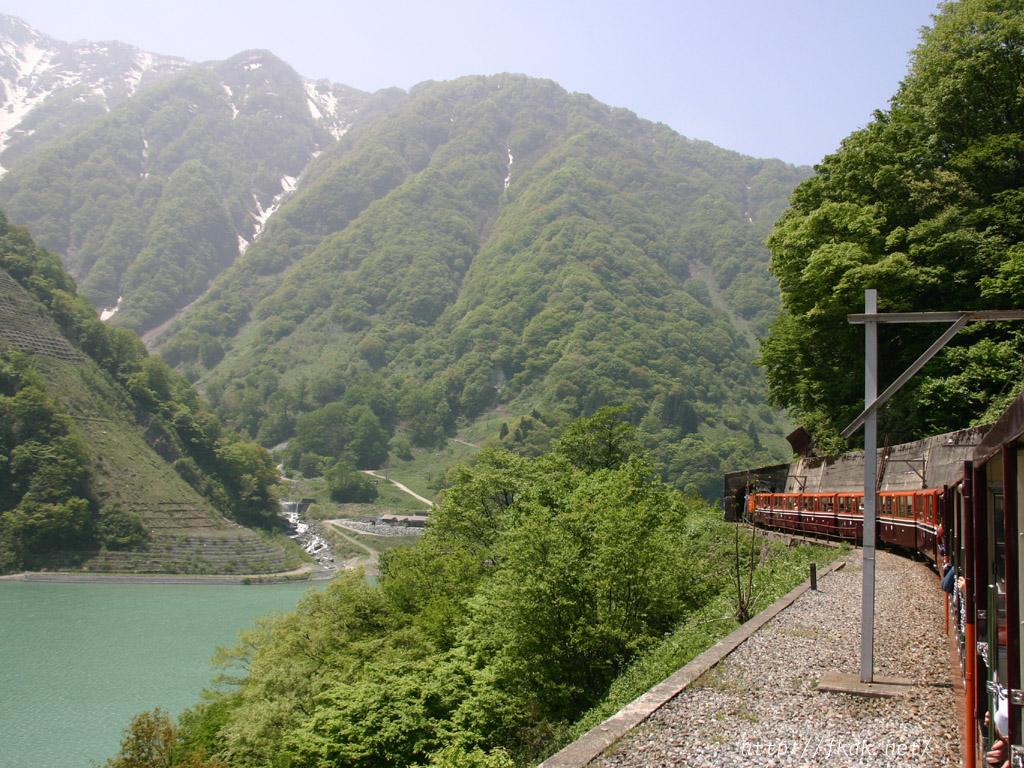 黒部渓谷鉄道とダム