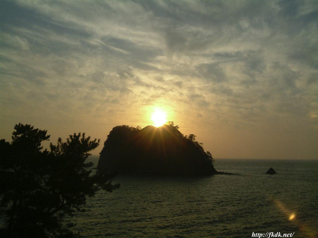 堂ヶ島の夕焼け