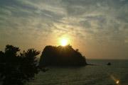 堂ヶ島の夕焼けの壁紙