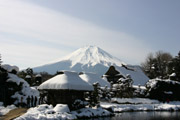 忍野八海と富士山2の壁紙