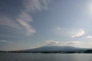 河口湖と富士山の壁紙