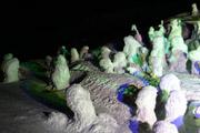 夜の蔵王山頂の壁紙