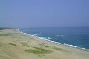 鳥取砂丘と海の壁紙