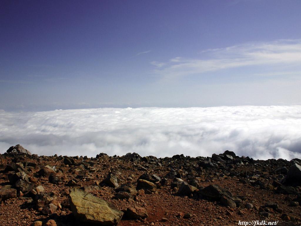 茶臼岳頂上からの雲海