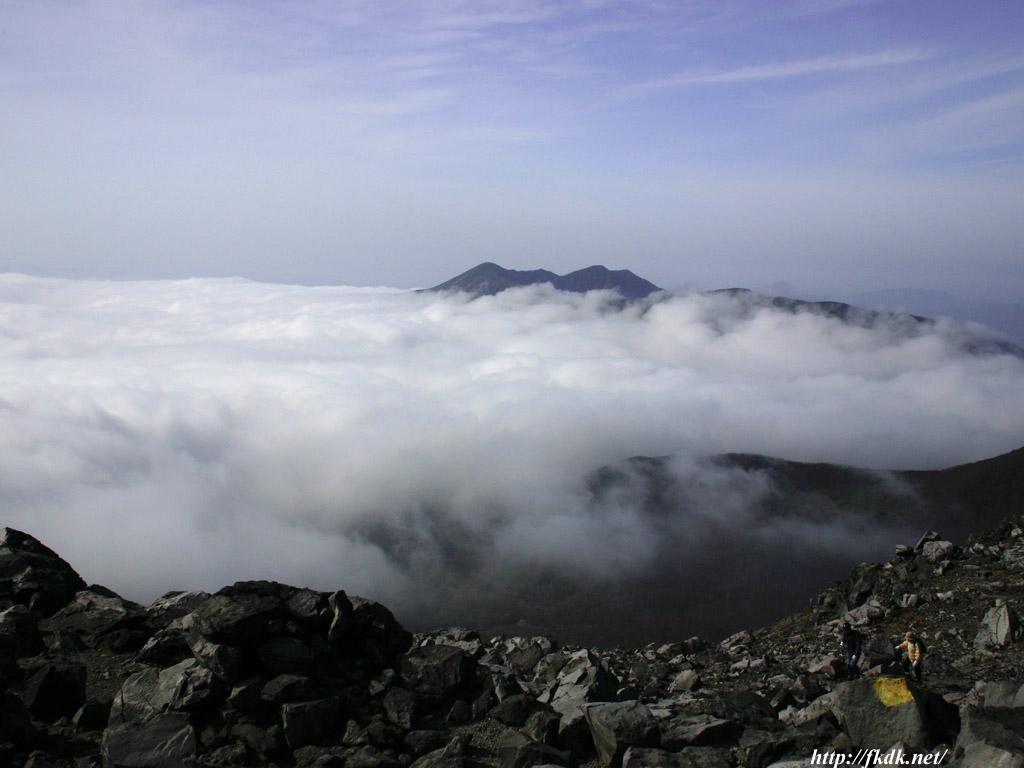 茶臼岳頂上からの景色