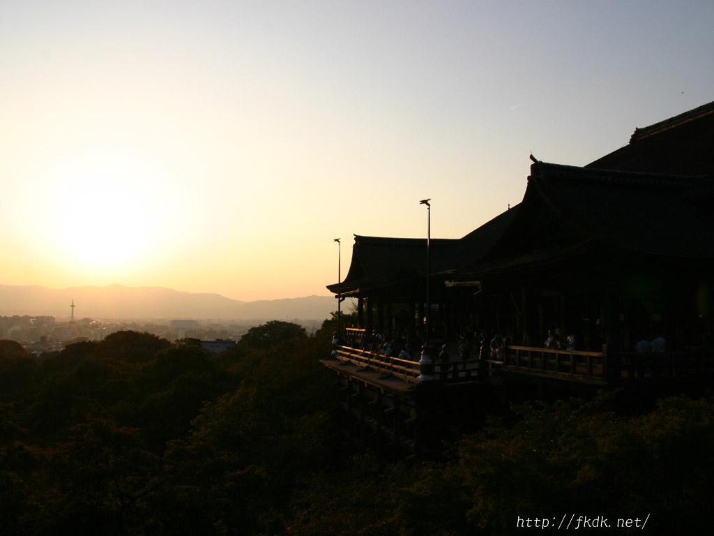 清水寺の夕景