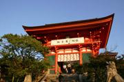 清水寺入り口の門の壁紙