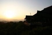 清水寺の夕景の壁紙