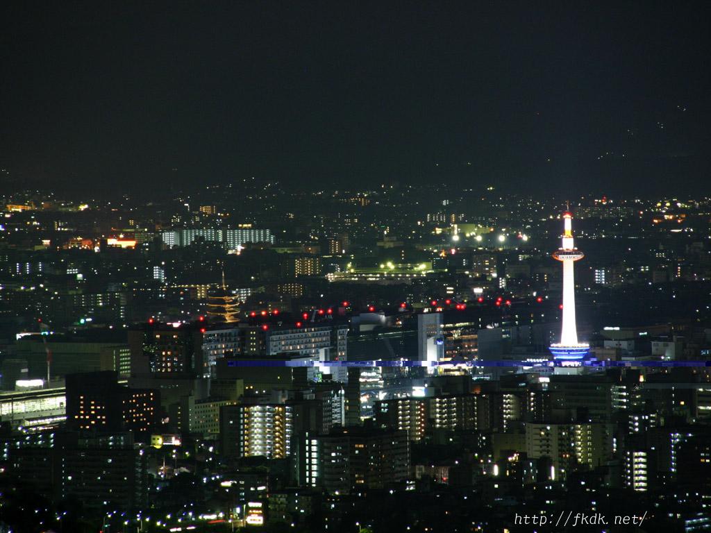 東山展望台からの夜景