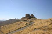 城と風車の壁紙