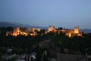 アルハンブラ宮殿夜景の壁紙