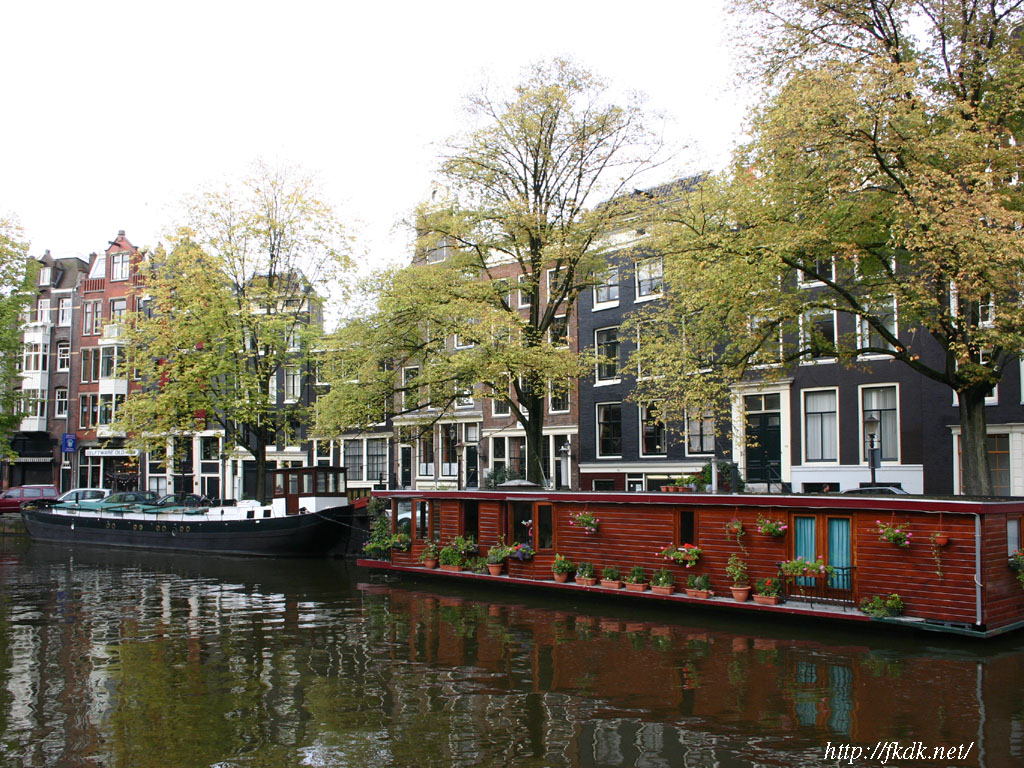 アムステルダムの運河1