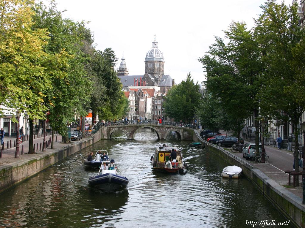 アムステルダムの運河3