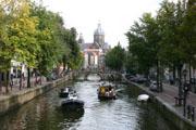 アムステルダムの運河3の壁紙